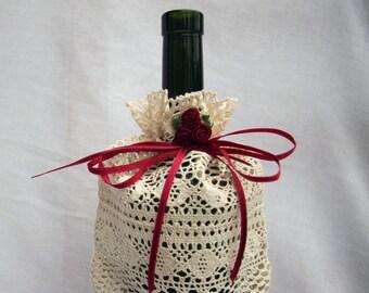 Bottle Lace Gift Bag, Wine bag,