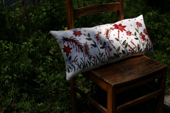 SPRING RIGHT - Hand Embroidered Pillow Case  - Let the Garden Advent