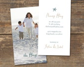 Mommy Calling Card Design - Coastal Chic - Double Sided with Photo - Digital Download