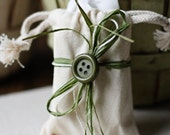3 Wrapped Soap Favors in a Muslin Pouch -  Wedding/Bridal Shower Soap Favors - Handmade Vegan Cold Process Soap Favors