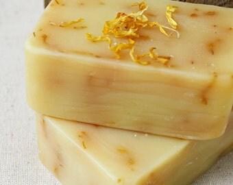 Zesty Lemongrass & Bergamot Cold Process Soap Bar - Handmade Vegan Cold Process Soap - Soap Bar