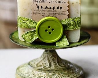Sage & Lemongrass Handmade Soap - Cold Process Soap - Vegan Bar Soap - Natural Soap