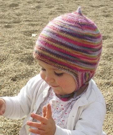 Knitting pattern PDF baby earflap hat