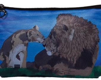 Lion Cosmetic Bag- Taken from my Original Oil Painting, A  Father Pride