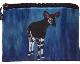 Okapi Change Purse - From my Original Oil Painting New Hope - Salvador Kitti