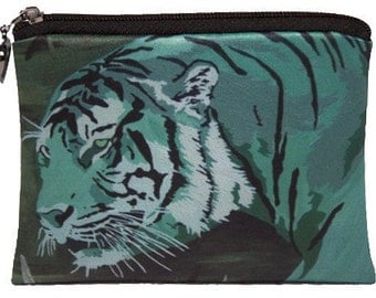 Tiger Change Purse - From my Original Oil Painting, One - Salvador Kitti - Support Wildlife Conservation, Read How