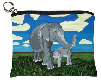 Asian Elephants Change Purse, Elephants Coin Purse  by Salvador Kitti - Support Wildlife Conservation, Read How