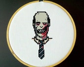 Zombie Businessman Cross Stitch PDF Pattern