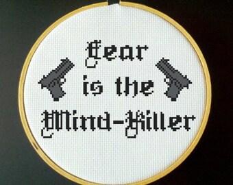Dune - Fear is the Mind-Killer - Cross Stitch Pattern