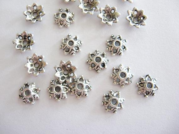 20 Lead Free Pewter bead caps