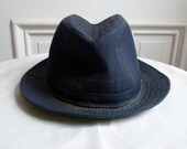 Vintage Navy Blue Mens Hat