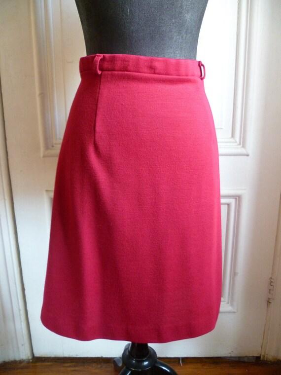Vintage Queen Casuals Raspberry Sorbet Pencil Skirt - M/L