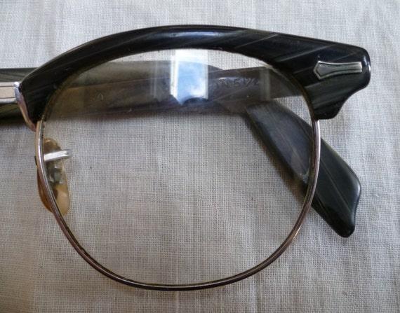 Vintage Shuron Browline 1950s Mens Eyeglass Frames 12K Gold