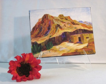 """Acrylic """"On the canyon's rim""""  landscape painting"""