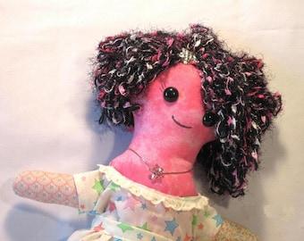 Star, a cloth  Art doll