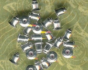 5mm Barrel Earnut-Silver Plated-48 piece pack