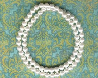 6mm Jablonex White Czech Glass Pearl Beads- 75pc, 6mm White Glass Pearl, 6mm White Pearl, 6mm Czech Glass Pearl, 6mm Pearl, Wedding White