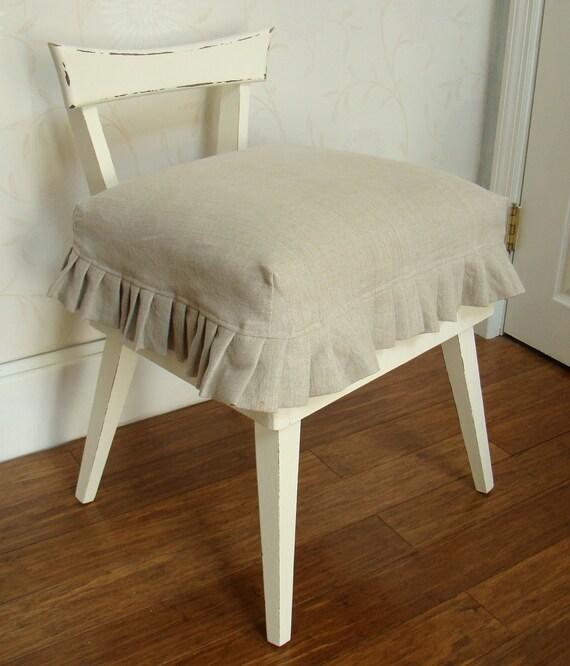 Vintage Slipcovered Vanity Chair
