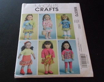 """McCall's Pattern M6370 for 18"""" Doll Clothes"""