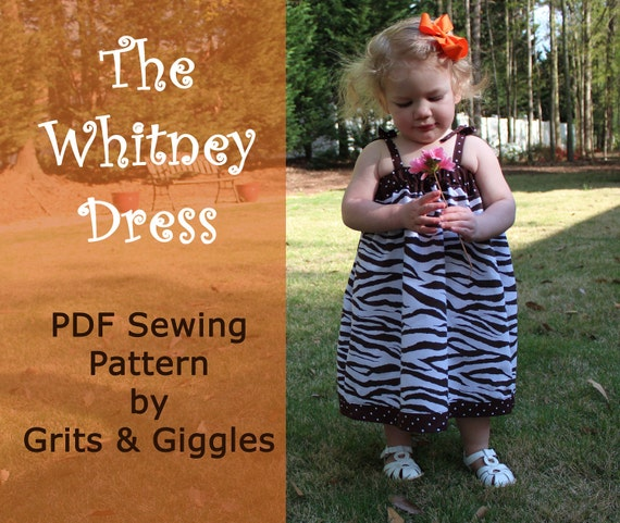 The Whitney Dress- PDF Sewing Pattern