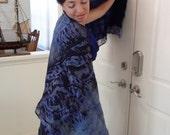 Fine Italian silk chiffon nuno felted wrap/shawl Custom Orders