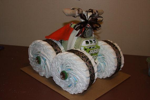 Uniique 4 Wheeler Diaper Cake By Lonestarlinens On Etsy