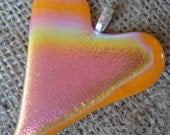 Rainbow Heart Dichroic Glass Pendant