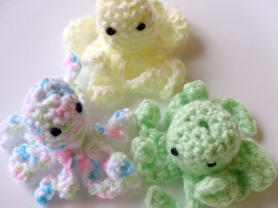 Octopus Finger Puppet Set of Three