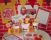 Firetruck Party Printables - Complete Print It Yourself Package