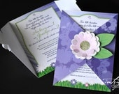Spring Garden Birthday - Invitation and Favor tag - Print-It-Yourself (printed available)