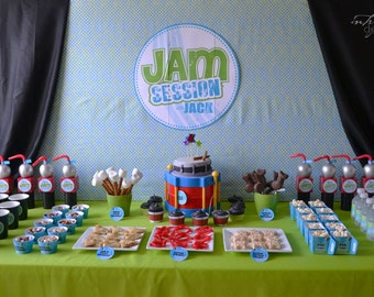 Jammin' Party Cupcake Wrap File