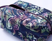 Batik Zippered Box Pouch