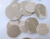 Cream and Gold Paper Garland: Wedding or Christmas Garland