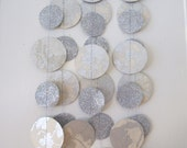 Silver and White Glitter Paper Garland: Wedding or Christmas Garland
