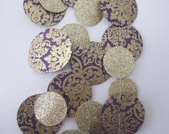 Gold Glitter and Purple Paper Garland: Wedding Garland