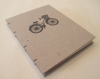 Bicycle Small Notebook Journal: Bike Hardbound Coptic Handmade Book