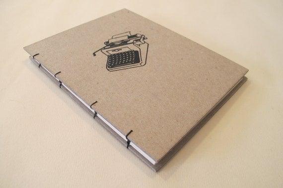 Typewriter Handmade Journal Notebook: Hardbound Coptic Small Book