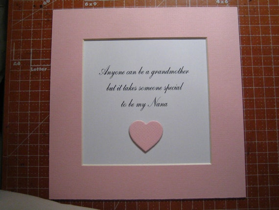 Framed Quote For Grammy Or Nana 9x9 Anyone By Fivesistersshop