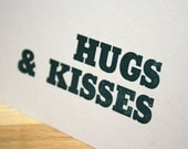 Hugs & Kisses Letterpress Card