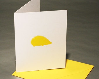 Hedgehog Letterpress Card