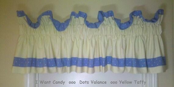 Dots valance - yellow taffy