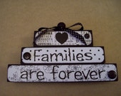 Families are Forever wood handmade home decor