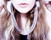Artemis Long Feather Earrings