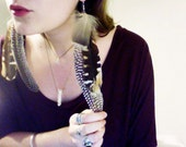 Forest Witch Pheasant and Quail Feather Earrings