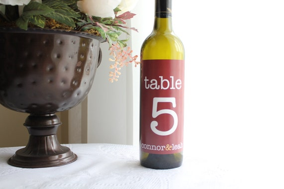 Private Listing for kmlyninger - 20 Tall Modern Type Table Numbers - Custom Wine Bottle Labels