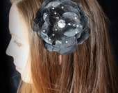 Black Flower Headband it can also be worn in an updo and as a necklace.