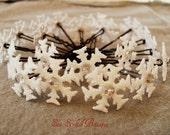 Custom Listing for TheGirlOnTheRoof - White Glitter Snowflake Hair Pins