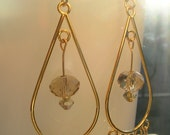 Handmade Gold and Crystal Dangles