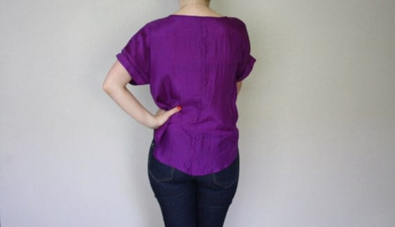 Vintage Amethyst SIlk Top