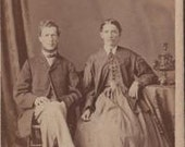 CDV photograph, Mr & Mrs. Calon or Eaton, Port Hope, Peterborough, Ontario, Canada